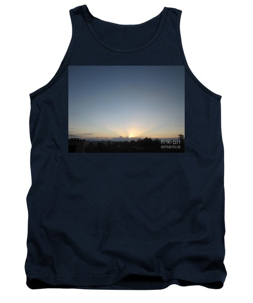 Tank Top featuring the painting Perris Early Sunburst by Sigrid Tune