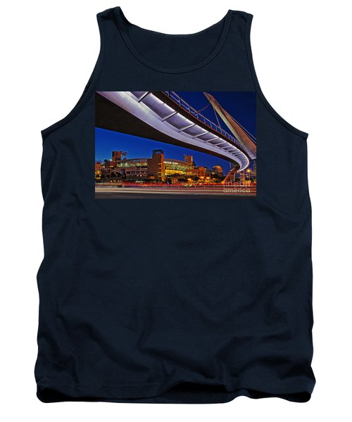 Petco Park And The Harbor Drive Pedestrian Bridge In Downtown San Diego  Tank Top