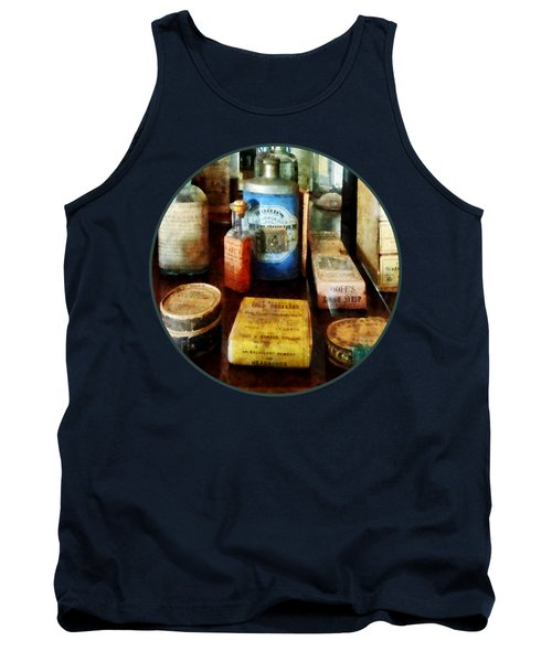 Pharmacy - Cough Remedies And Tooth Powder Tank Top by Susan Savad