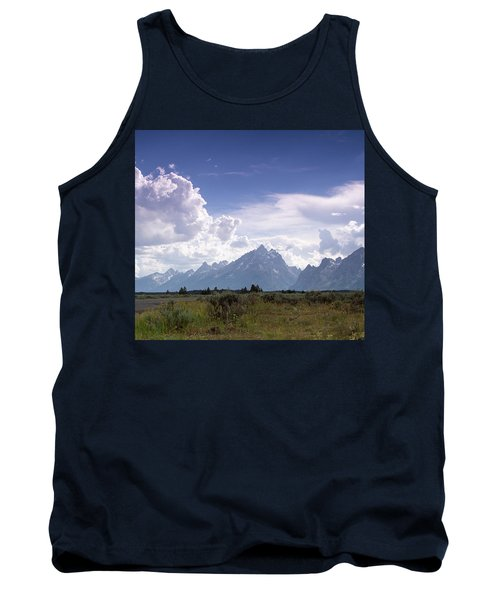 Tank Top featuring the photograph Photographing The Tetons by Dawn Romine
