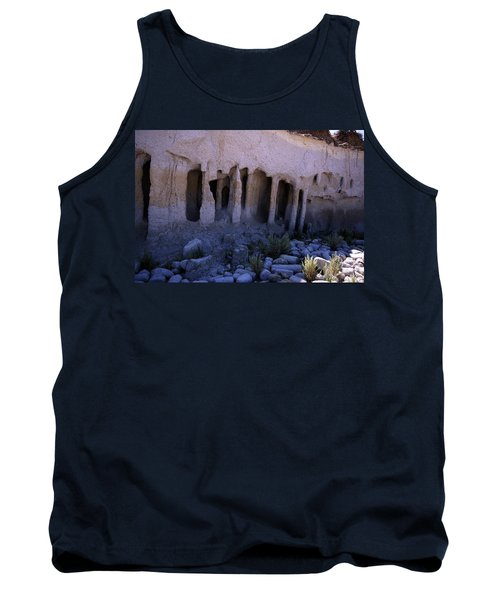 Pillars And Caves, Crowley Lake Tank Top by Michael Courtney