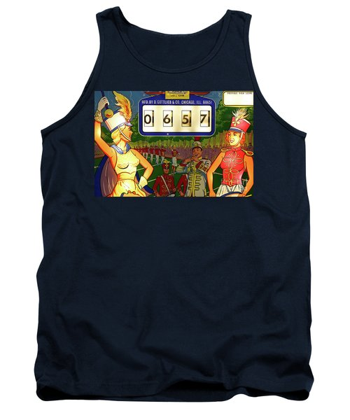Tank Top featuring the photograph Pinball Art - Majorettes by Colleen Kammerer