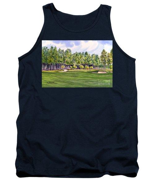 Pinehurst Golf Course 17th Hole Tank Top by Bill Holkham