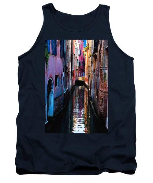 Pink Canal Tank Top by Harry Spitz