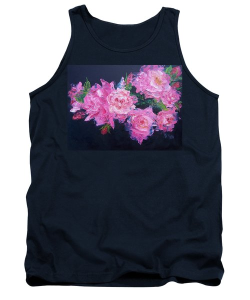 Pink Roses Oil Painting Tank Top