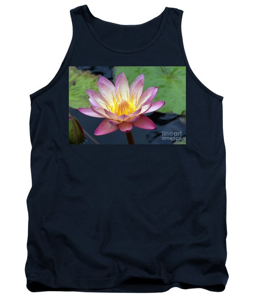 Pink Water Lily Tank Top by Teresa Zieba