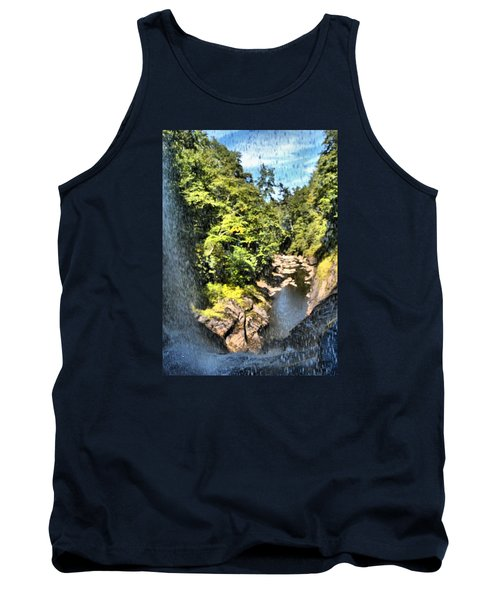 Pitcher Falls And Cullasaja Gorge Tank Top by James Potts