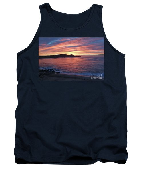 Point Lobos Red Sunset Tank Top