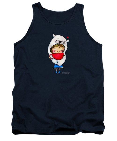 Polar Bear Hug Mug Girl Tank Top