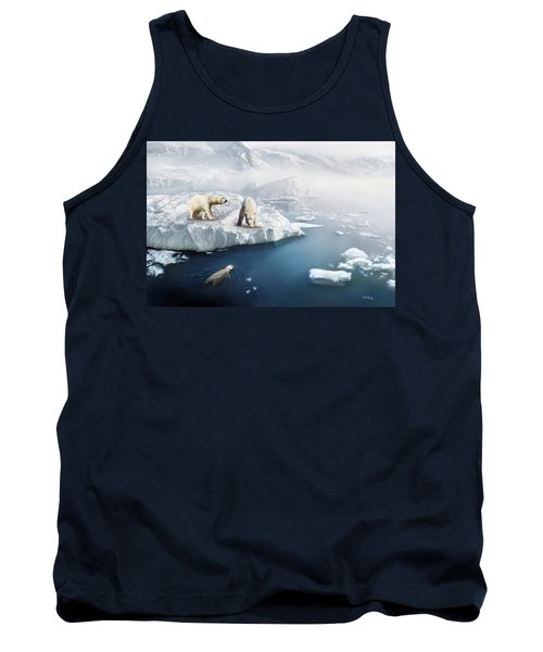 Tank Top featuring the digital art Polar Bears by Thanh Thuy Nguyen