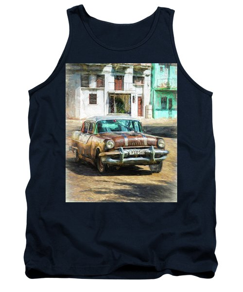 Tank Top featuring the photograph Pontiac Havana by Lou Novick