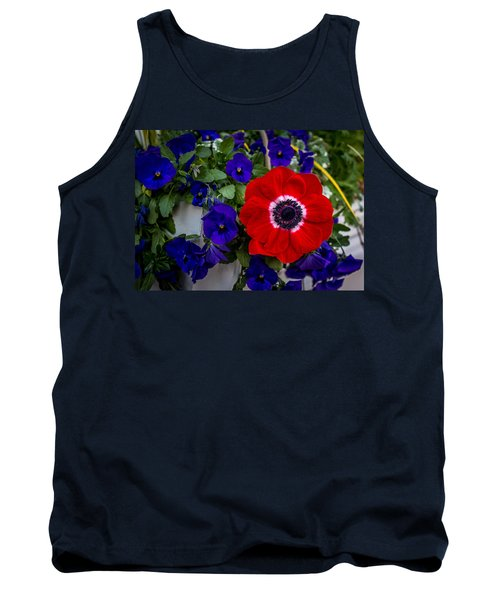 Poppy And Pansies Tank Top