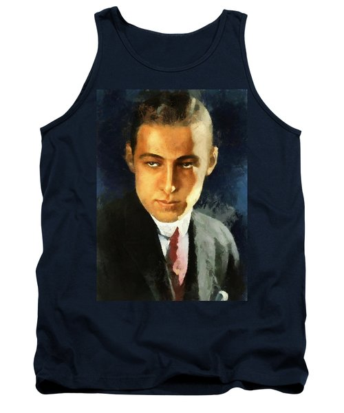 Portrait Of Rudolph Valentino Tank Top