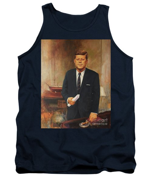 Tank Top featuring the painting President John F. Kennedy by Noe Peralez