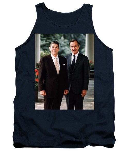 President Reagan And George H.w. Bush - Official Portrait  Tank Top