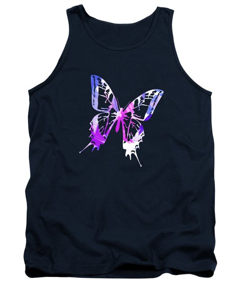 Purple Abstract Paint Pattern Tank Top