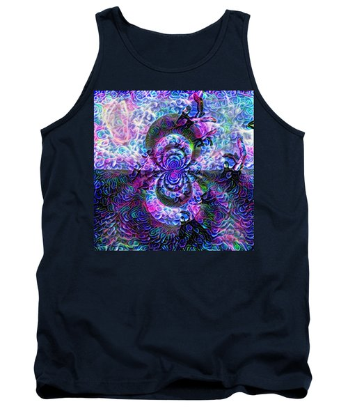 Purple Abstraction Tank Top