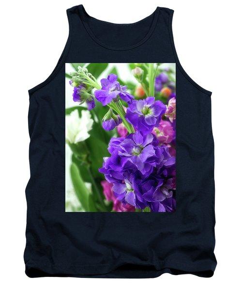 Purple Bouquet Tank Top