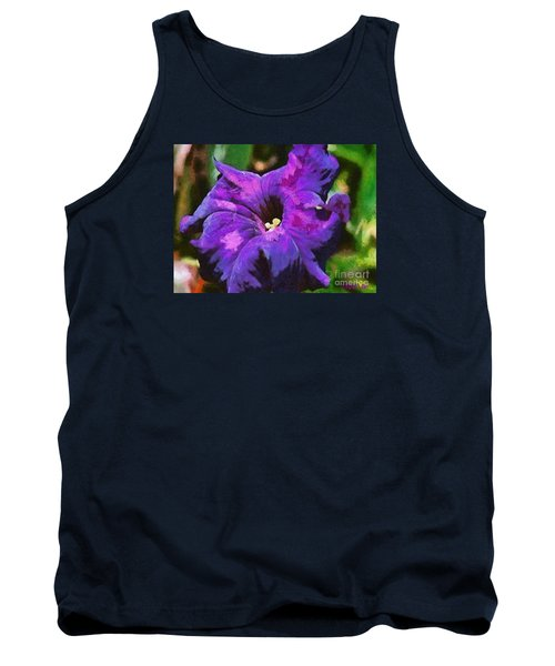 Tank Top featuring the painting Purple Color Of Royalty by Dragica  Micki Fortuna