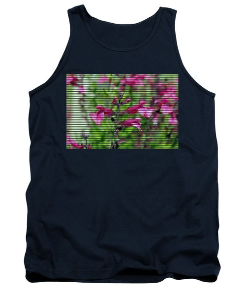 Purple Flower T-shirt Tank Top by Isam Awad
