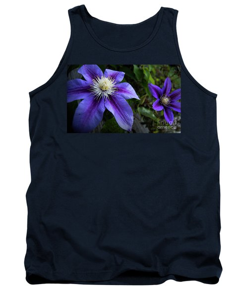 Purple Flowers Tank Top by Brian Jones