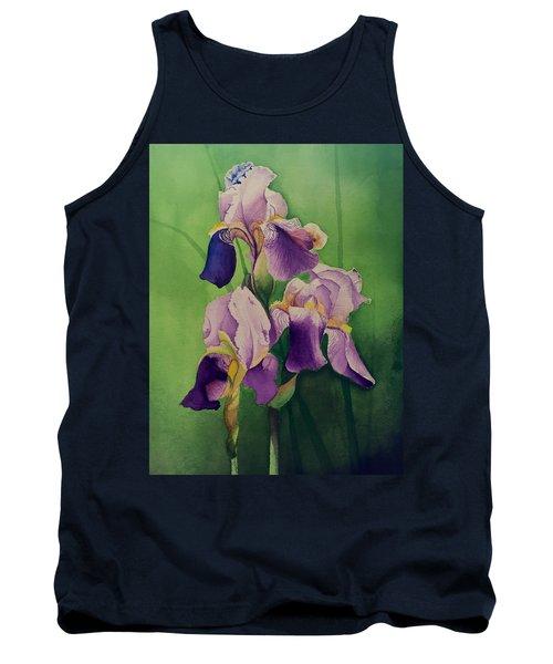 Purple Iris' Tank Top