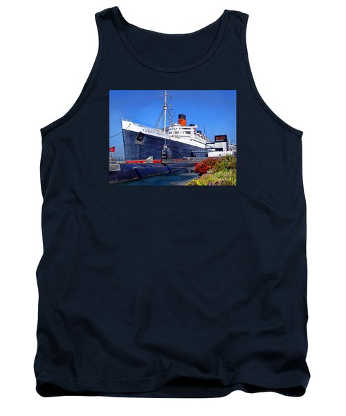 Queen Mary Ship Tank Top by Mariola Bitner