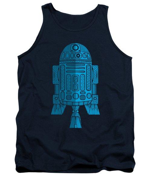 R2d2 - Star Wars Art - Blue 2 Tank Top