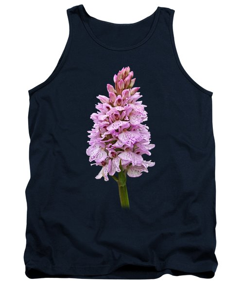 Radiant Wild Pink Spotted Orchid Tank Top by Gill Billington