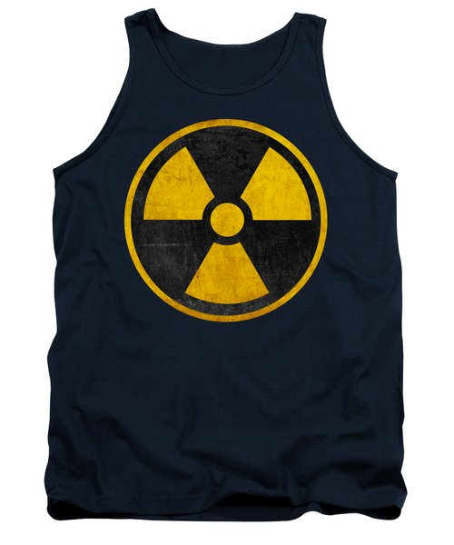 Vintage Distressed Nuclear War Fallout Shelter Sign Tank Top
