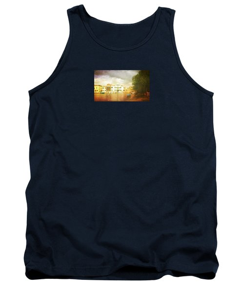 Tank Top featuring the photograph Raincloud Over Malamocco by Anne Kotan