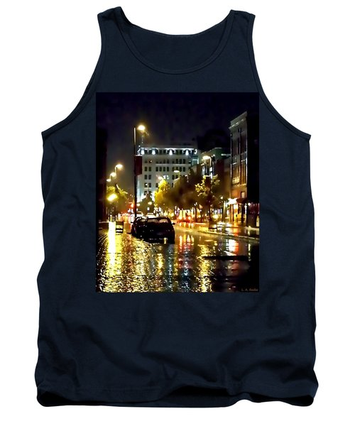 Rainy Night In Green Bay Tank Top by Lauren Radke
