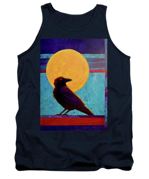 Raven Moon Tank Top by Nancy Jolley