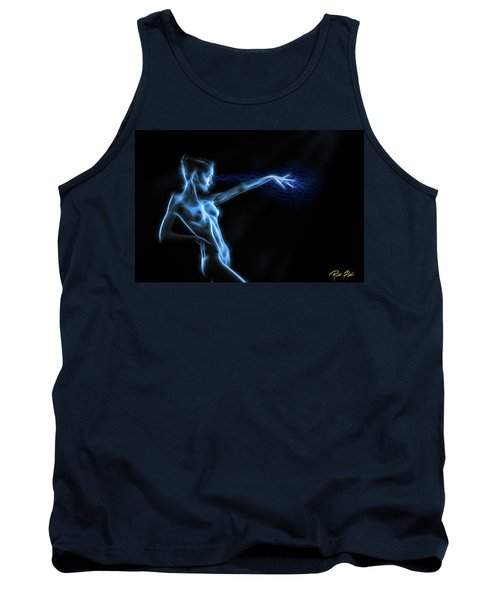 Tank Top featuring the photograph Reaching Figure Darkness by Rikk Flohr