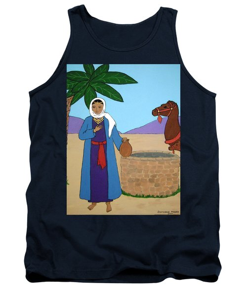 Tank Top featuring the painting Rebecca At The Well by Stephanie Moore