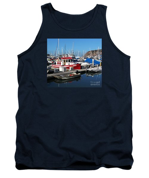 Tank Top featuring the photograph Red Boat by Cheryl Del Toro