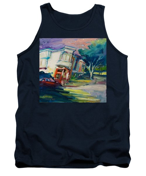 Red Cafe Tank Top by Rick Nederlof
