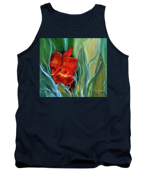 Red Jungle Orchid Tank Top