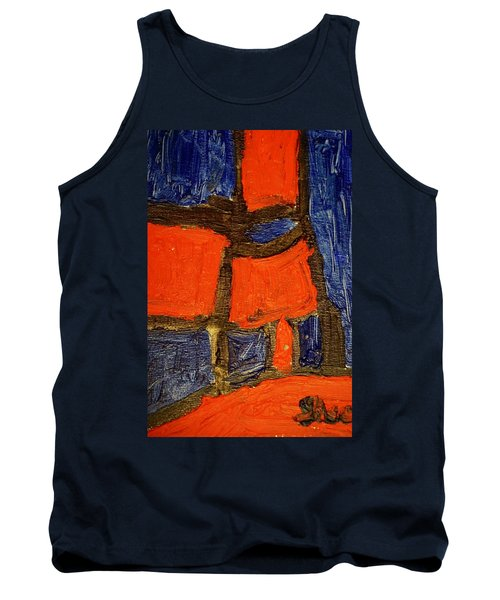 Red Lamps Tank Top by Shea Holliman
