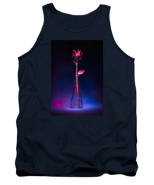 Red Metal Rose Tank Top