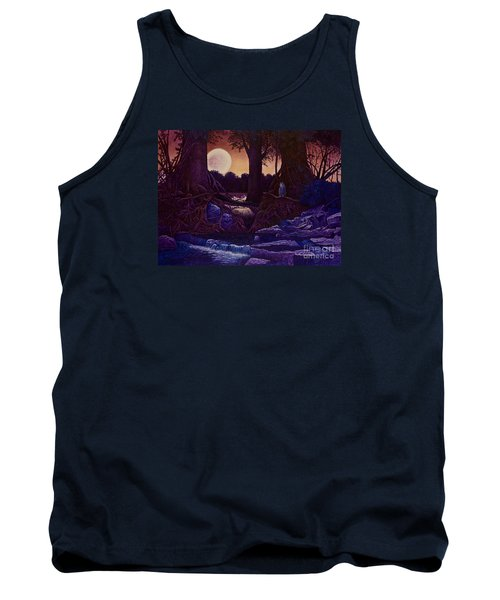 Red Moon Tank Top by Michael Frank