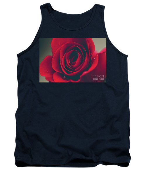 Tank Top featuring the photograph Red Rose Floral Bliss by Sharon Mau