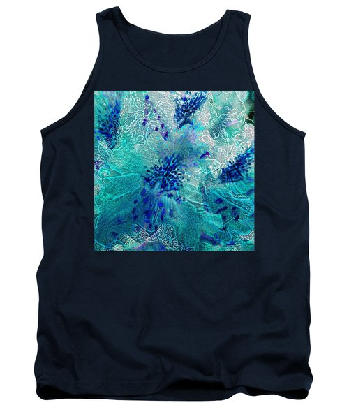 Rhododendron Turquoise Lace Tank Top