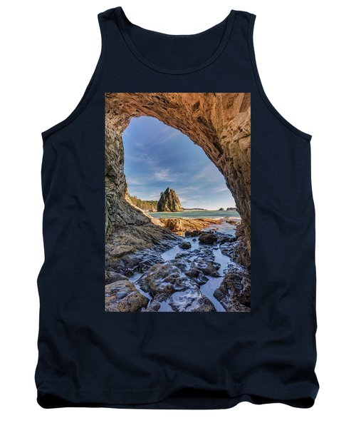 Tank Top featuring the photograph Rialto Beach Sea Arch by Pierre Leclerc Photography