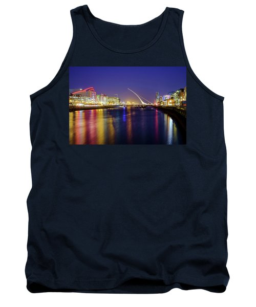 River Liffey In Dublin At Dusk Tank Top