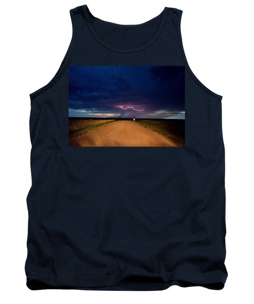 Road Under The Storm Tank Top by Ed Sweeney