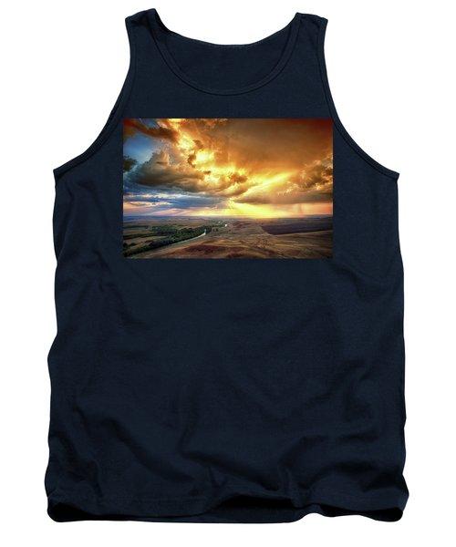 Rolling Rain Of Summer Sunset Tank Top