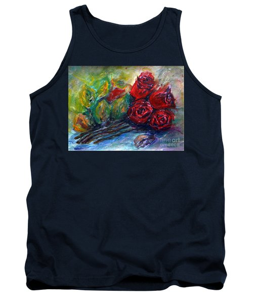 Roses Tank Top by Jasna Dragun