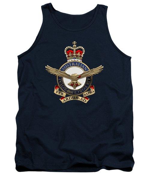 Royal Australian Air Force -  R A A F  Badge Over Blue Velvet Tank Top