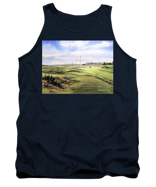 Royal Troon Golf Course Tank Top by Bill Holkham